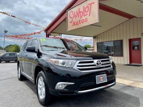 2012 Toyota Highlander for sale at Sandlot Autos in Tyler TX