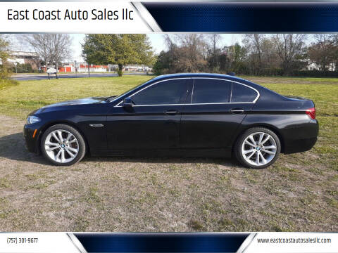2016 BMW 5 Series for sale at East Coast Auto Sales llc in Virginia Beach VA