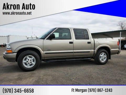 2003 Chevrolet S-10 for sale at Akron Auto - Fort Morgan in Fort Morgan CO