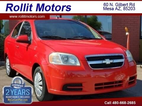 2009 Chevrolet Aveo for sale at Rollit Motors in Mesa AZ