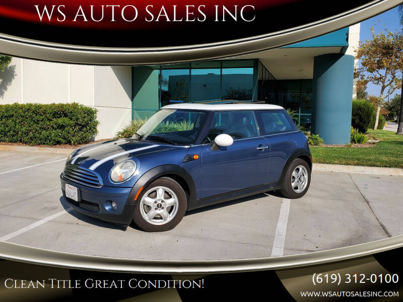2010 MINI Cooper for sale at WS AUTO SALES INC in El Cajon CA