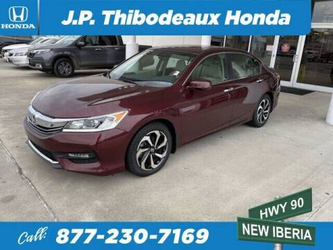 2016 Honda Accord for sale at J P Thibodeaux Used Cars in New Iberia LA