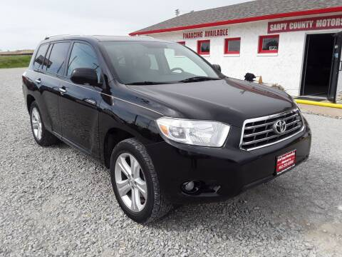 2010 Toyota Highlander for sale at Sarpy County Motors in Springfield NE