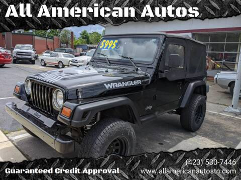1997 Jeep Wrangler for sale at All American Autos in Kingsport TN