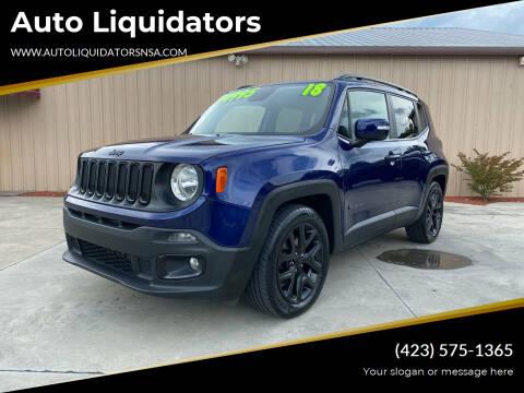 2018 Jeep Renegade for sale at Auto Liquidators in Bluff City TN