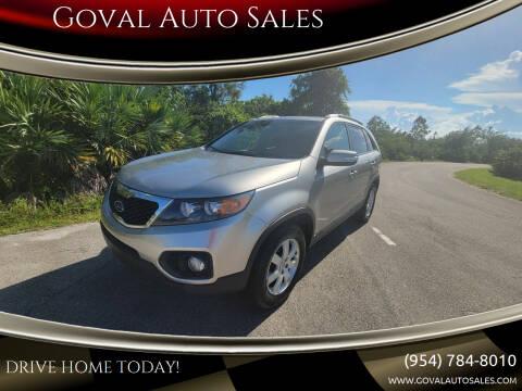 2013 Kia Sorento for sale at Goval Auto Sales in Pompano Beach FL