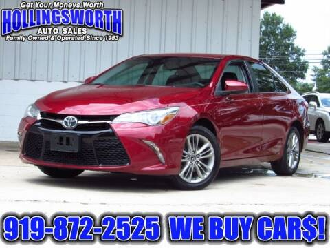 2016 Toyota Camry for sale at Hollingsworth Auto Sales in Raleigh NC