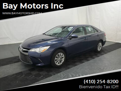 2017 Toyota Camry for sale at Bay Motors Inc in Baltimore MD