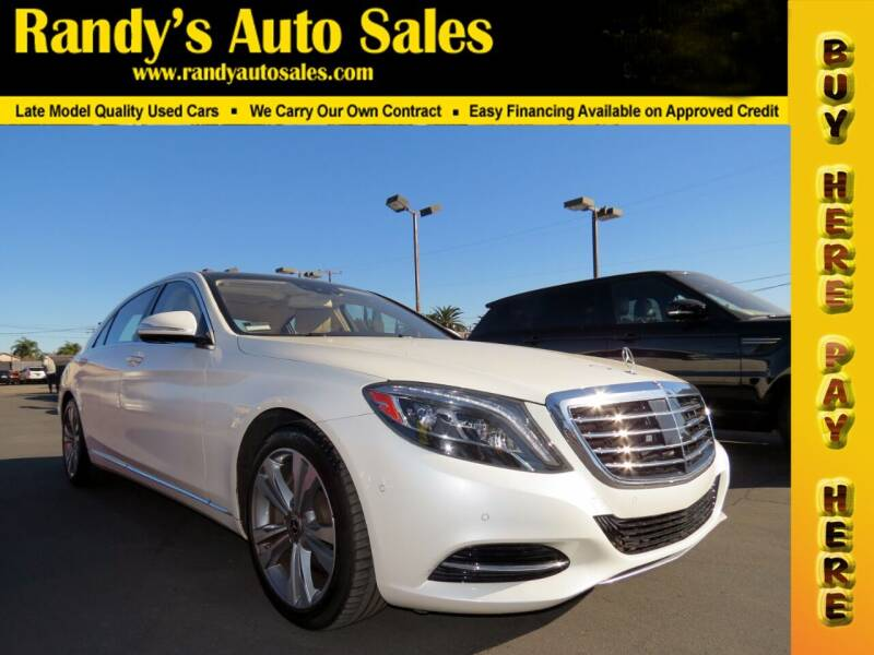 2017 Mercedes-Benz S-Class for sale at Randy's Auto Sales in Ontario CA