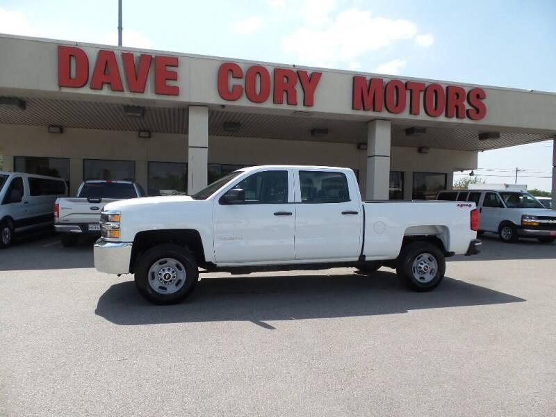 2018 Chevrolet Silverado 2500HD for sale at DAVE CORY MOTORS in Houston TX