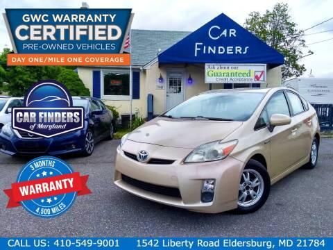 2010 Toyota Prius for sale at CAR FINDERS OF MARYLAND LLC - Certified Cars in Eldersburg MD