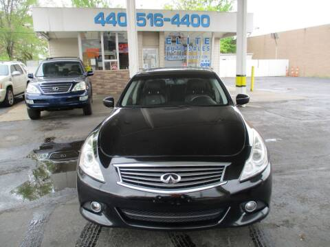 2010 Infiniti G37 Sedan for sale at Elite Auto Sales in Willowick OH