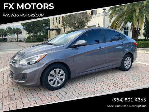 2017 Hyundai Accent for sale at FX MOTORS in Margate FL