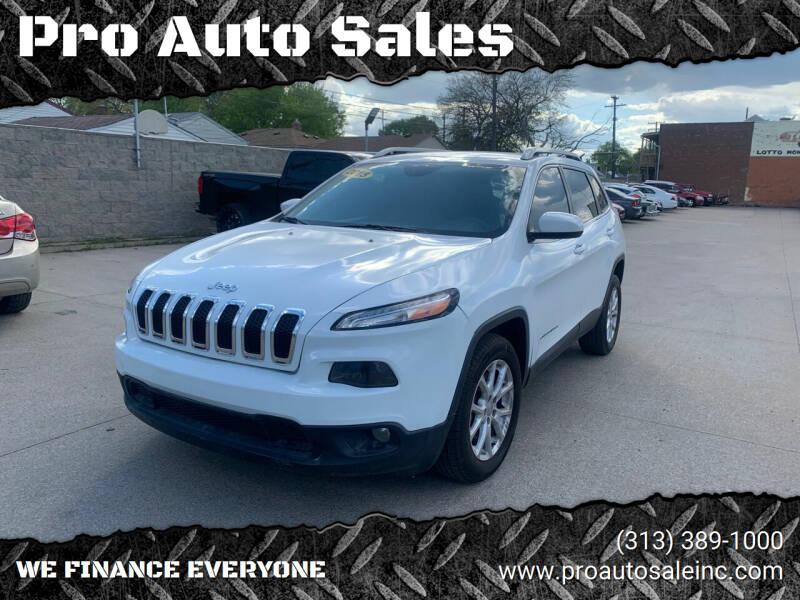 2015 Jeep Cherokee for sale at Pro Auto Sales in Lincoln Park MI