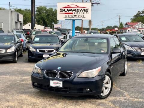 2007 BMW 5 Series for sale at Supreme Auto Sales in Chesapeake VA