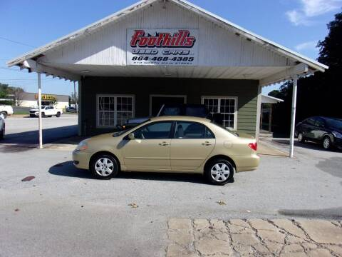 2008 Toyota Corolla for sale at Foothills Used Cars LLC in Campobello SC