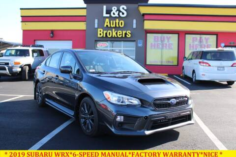 2019 Subaru WRX for sale at L & S AUTO BROKERS in Fredericksburg VA