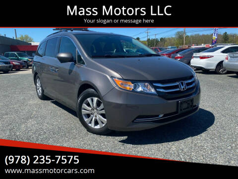 2014 Honda Odyssey for sale at Mass Motors LLC in Worcester MA