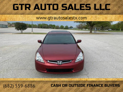 2004 Honda Accord for sale at GTR Auto Sales LLC in Haltom City TX