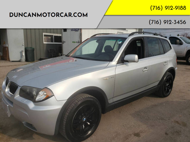 2006 BMW X3 for sale at DuncanMotorcar.com in Buffalo NY