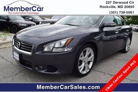 2012 Nissan Maxima for sale at MemberCar in Rockville MD