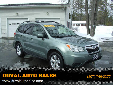 2014 Subaru Forester for sale at DUVAL AUTO SALES in Turner ME