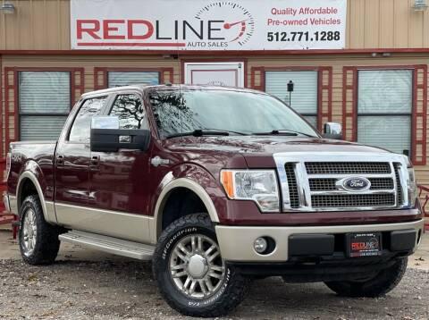 2010 Ford F-150 for sale at REDLINE AUTO SALES LLC in Cedar Creek TX