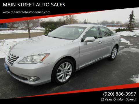 2011 Lexus ES 350 for sale at MAIN STREET AUTO SALES in Neenah WI