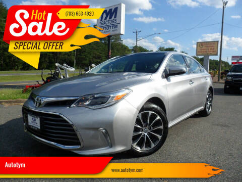 2016 Toyota Avalon for sale at AUTOTYM INC in Fredericksburg VA