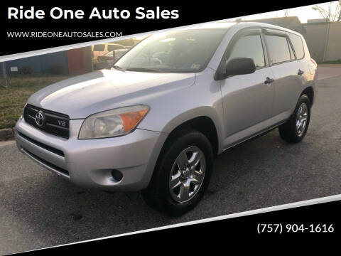 2008 Toyota RAV4 for sale at Ride One Auto Sales in Norfolk VA