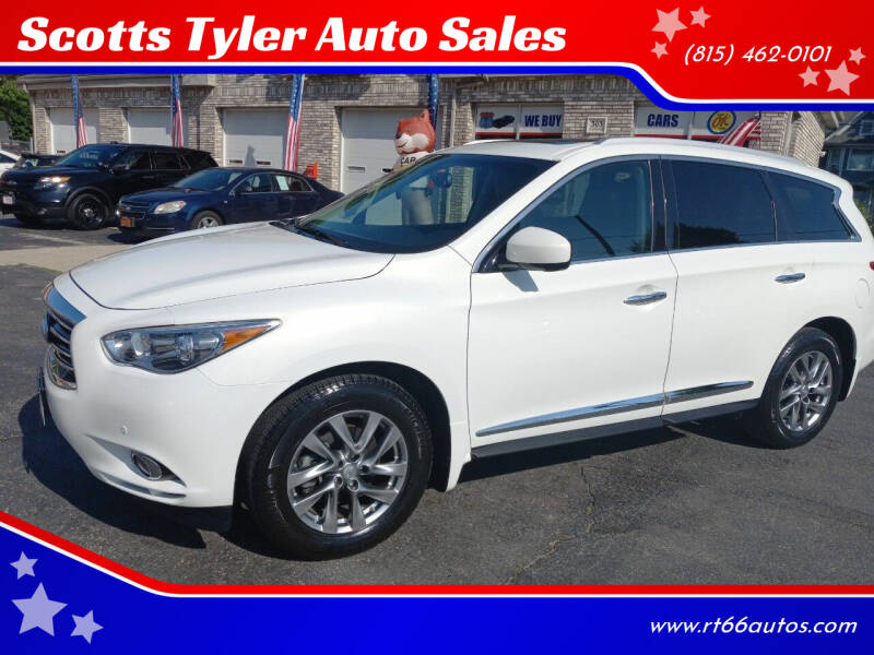 2013 Infiniti JX35 for sale at Scotts Tyler Auto Sales in Wilmington IL