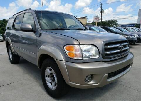 2001 Toyota Sequoia for sale at TEXAS MOTOR CARS in Houston TX