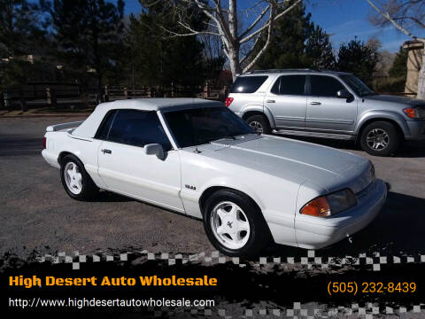 1993 Ford Mustang for sale at High Desert Auto Wholesale in Albuquerque NM