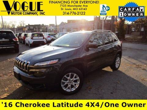 2016 Jeep Cherokee for sale at Vogue Motor Company Inc in Saint Louis MO