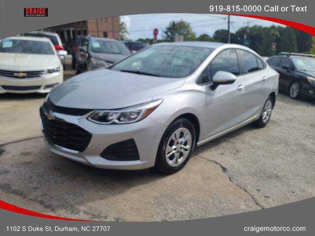 2019 Chevrolet Cruze for sale at CRAIGE MOTOR CO in Durham NC