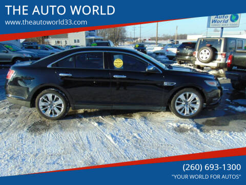 2011 Ford Taurus for sale at THE AUTO WORLD in Churubusco IN