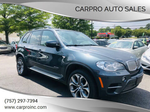 2012 BMW X5 for sale at Carpro Auto Sales in Chesapeake VA
