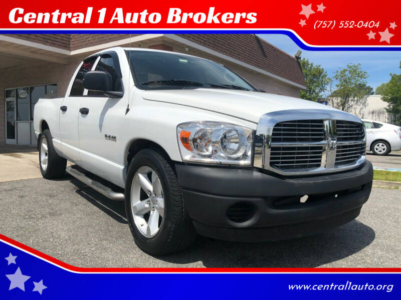 2008 Dodge Ram Pickup 1500 for sale at Central 1 Auto Brokers in Virginia Beach VA