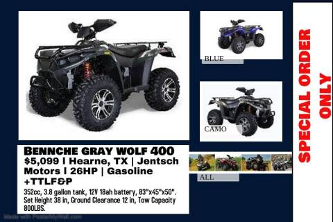 2020 BENNCHE GRAY WOLF 400 for sale at JENTSCH MOTORS in Hearne TX