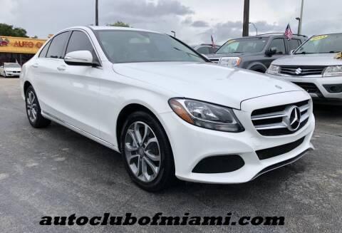 2015 Mercedes-Benz C-Class for sale at AUTO CLUB OF MIAMI, INC in Miami FL