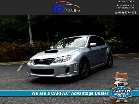 2013 Subaru Impreza for sale at Zed Motors in Raleigh NC