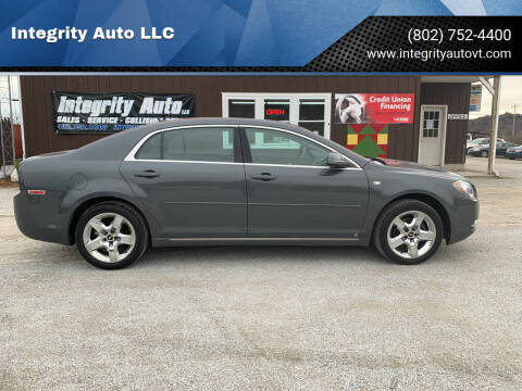 2008 Chevrolet Malibu for sale at Integrity Auto LLC in Sheldon VT