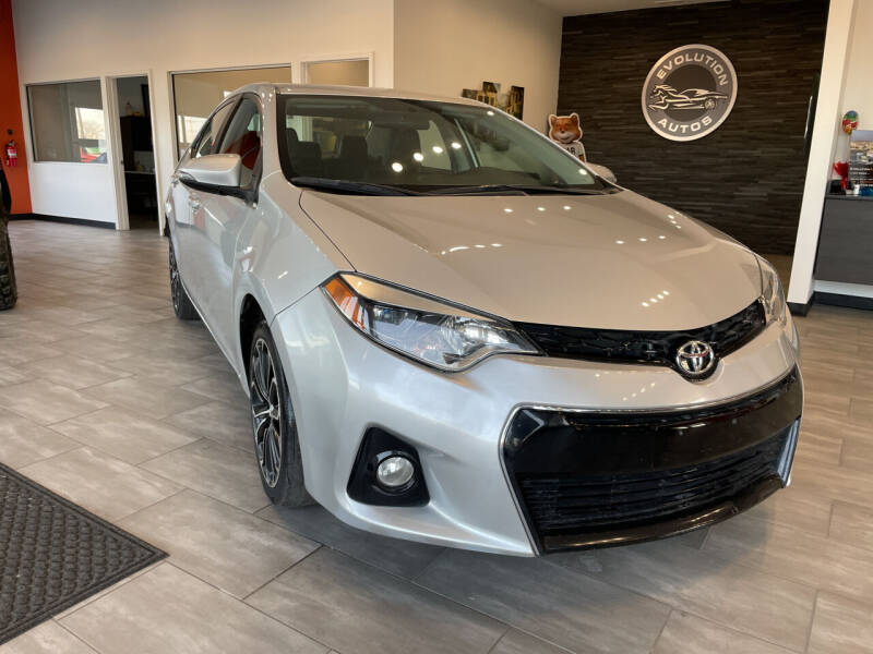 2016 Toyota Corolla for sale at Evolution Autos in Whiteland IN
