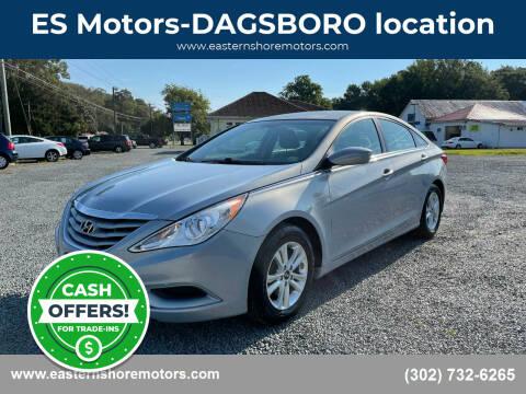 2012 Hyundai Sonata for sale at ES Motors-DAGSBORO location in Dagsboro DE