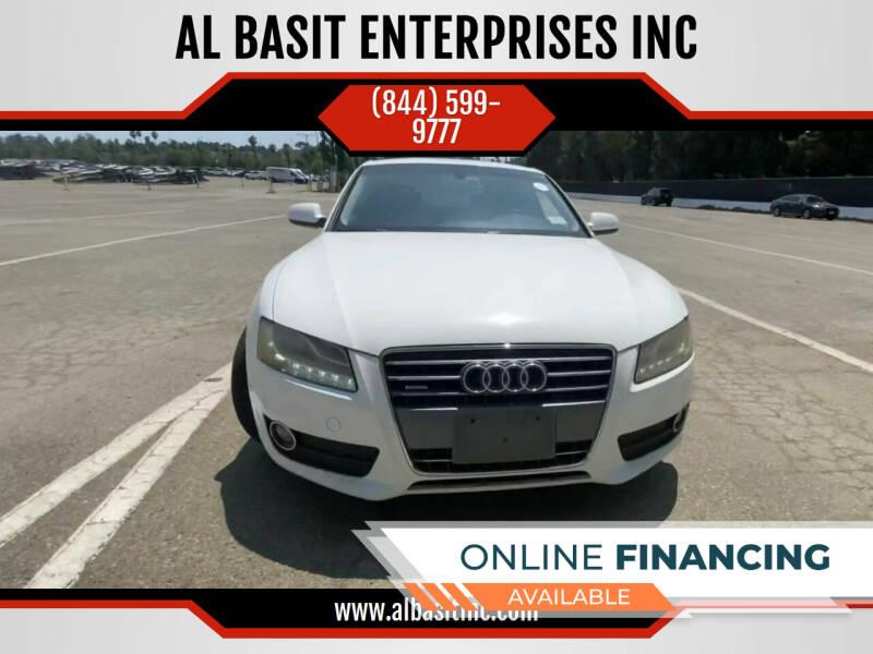 2012 Audi A5 for sale at AL BASIT ENTERPRISES INC in Riverside CA