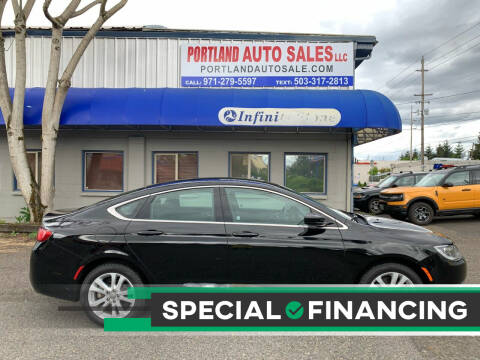 2016 Chrysler 200 for sale at PORTLAND AUTO SALES LLC. in Portland OR