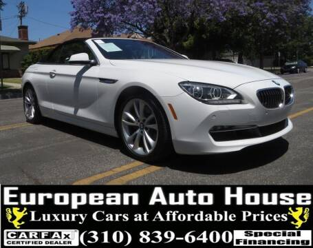 2013 BMW 6 Series for sale at European Auto House in Los Angeles CA