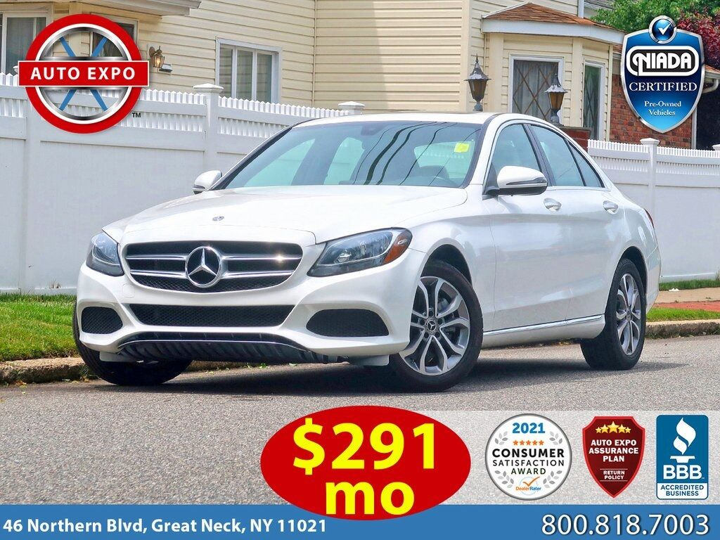 used 2018 Mercedes-Benz C-Class car, priced at $23,195